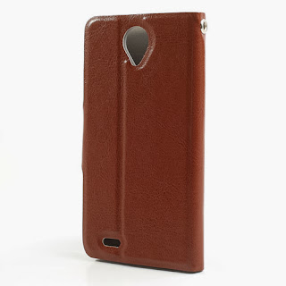 Crazy Horse Texture Leather Case Wallet with Stand for Lenovo S820 - Brown