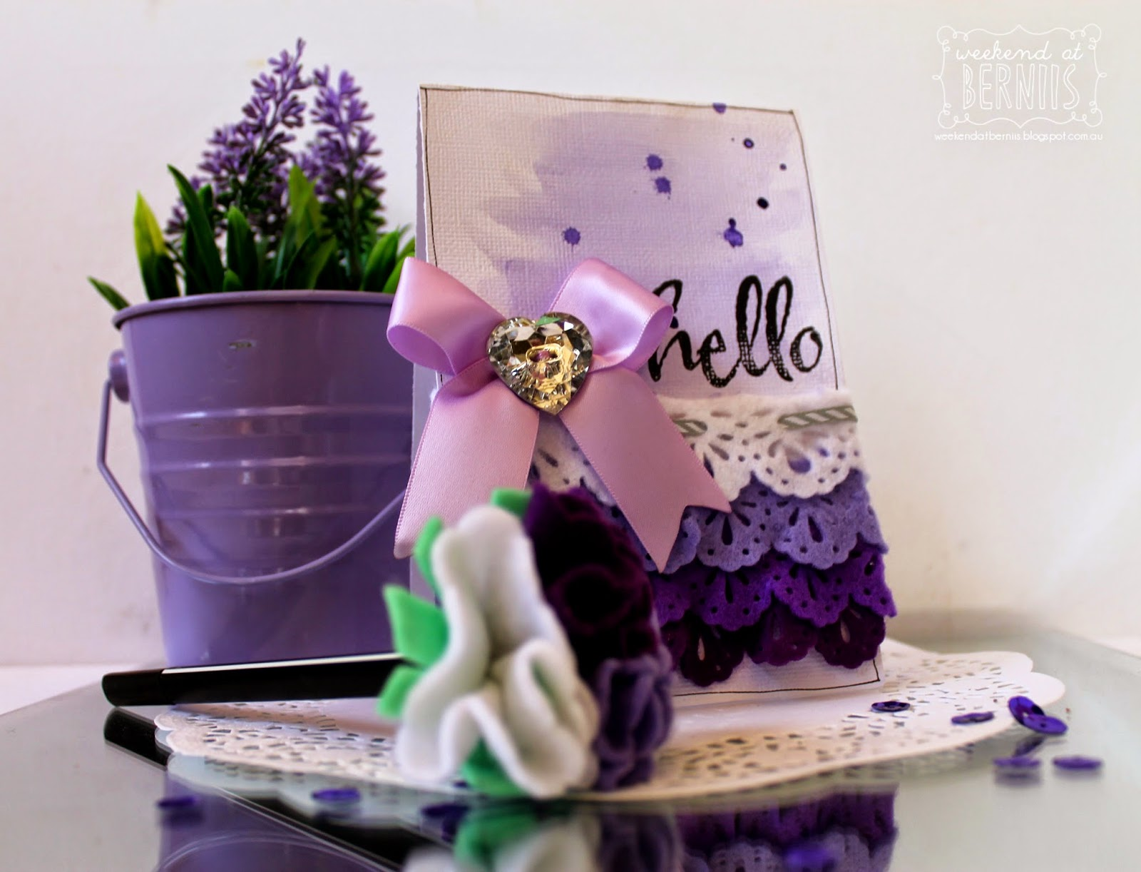 Hello card by Bernii Miller for Couture Creations.