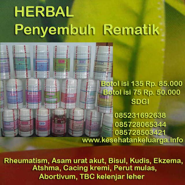 Herbal untuk rematik 085231692638 atau 085728065344 atau 085728503421 SDGI keluargasehat