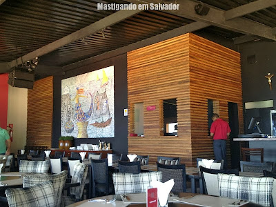 Red River Café: Ambiente interno