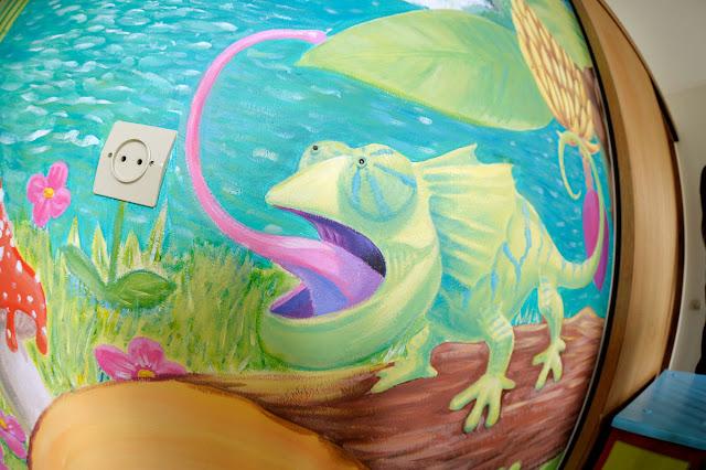caméléon pour fresque d'enfant