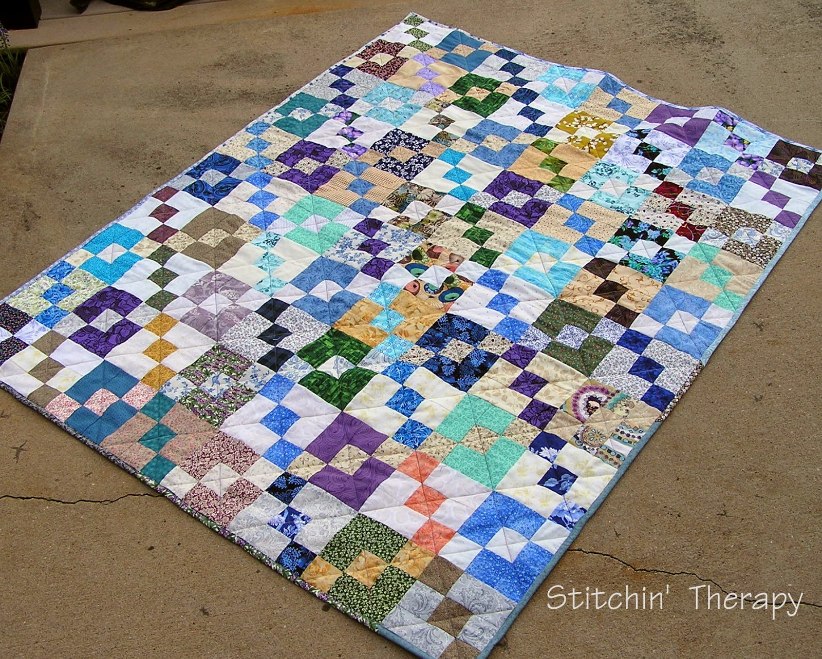 Stitchin 39 therapy scrap quilts for Scrap quilt