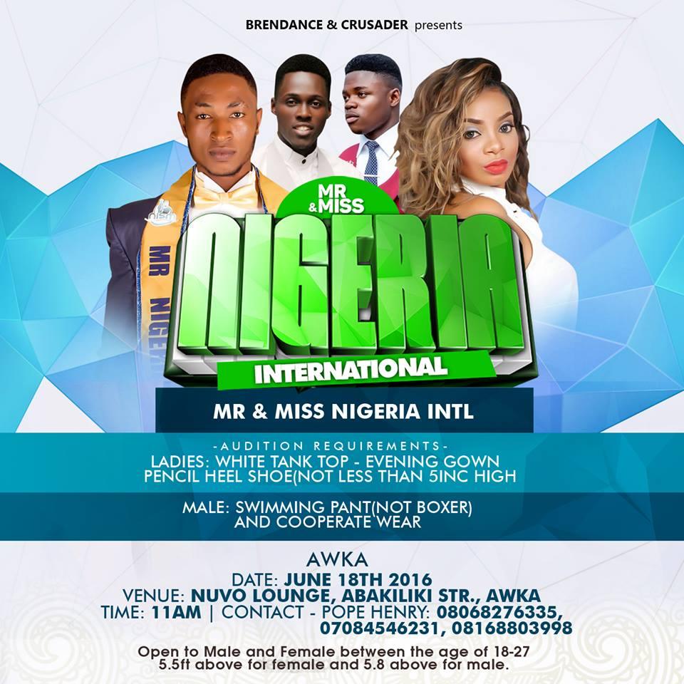 Mr and Miss Nigeria International