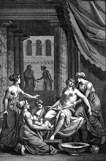 Birth of Heracles from the mortal Alcmene, by Jean Jacques