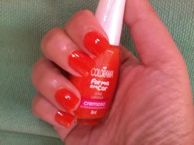 esmalte colorama cone laranja