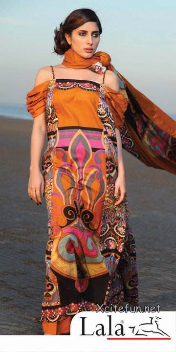 Lala Hot Print Lawn Fancy Collection !