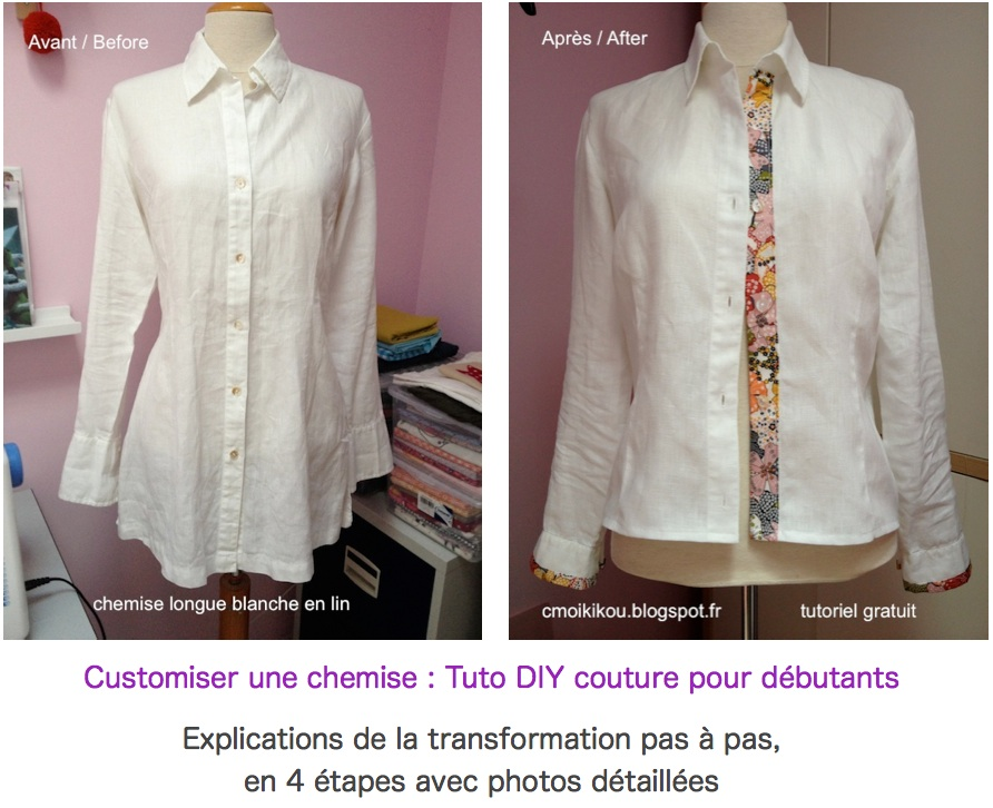 Extrem 1-Relooker Customiser une chemise // ETAPE 1 : Modifier les  FF93