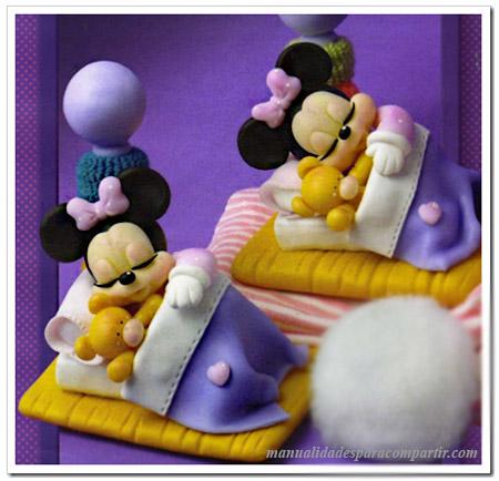 Souvenirs infantiles de porcelana fría Minnie Mouse Manualidades.