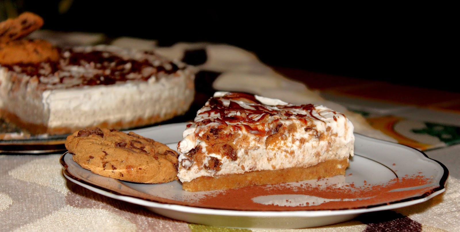 Cheesecake al cappuccino e cookies