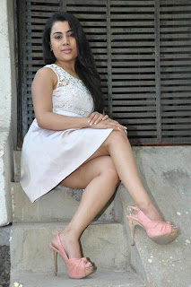Bhumika Chabria Potos in White Short Dress 0016