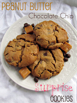 Recipe: Peanut butter chocolate chip surprise cookies