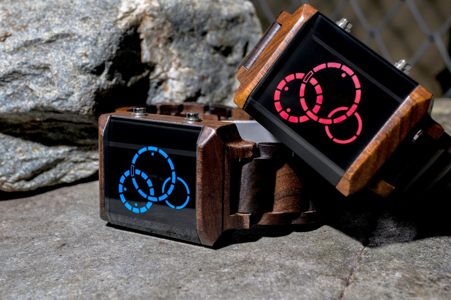 Kisai Satellite X Wood LED Watch