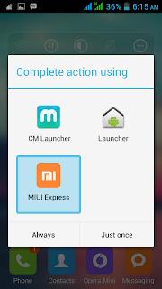 pilih launcher miui express