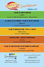 EN FEBRERO 2017 VUELVE LA COLONIA DE ARTE Y JUEGO