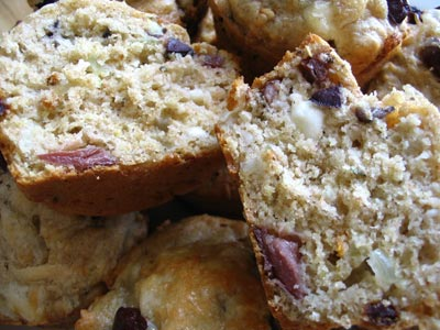 Black Olive and Feta Cheese Dinner Muffins