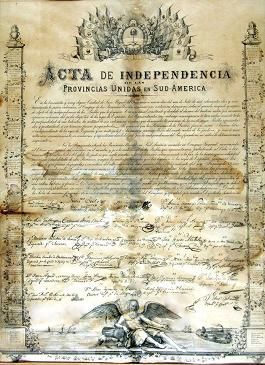 DÍA DE LA INDEPENDENCIA ARGENTINA. 09 de Julio de 1816