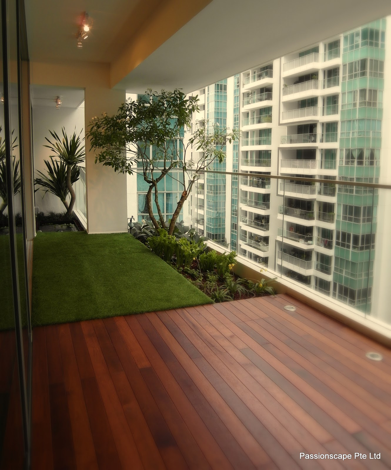 Singapore landscape design balcony in style 1 for Interior garden design