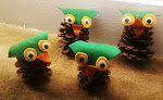 Pine cone owls.