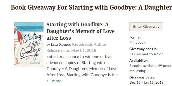 Enter the Goodreads Giveaway...