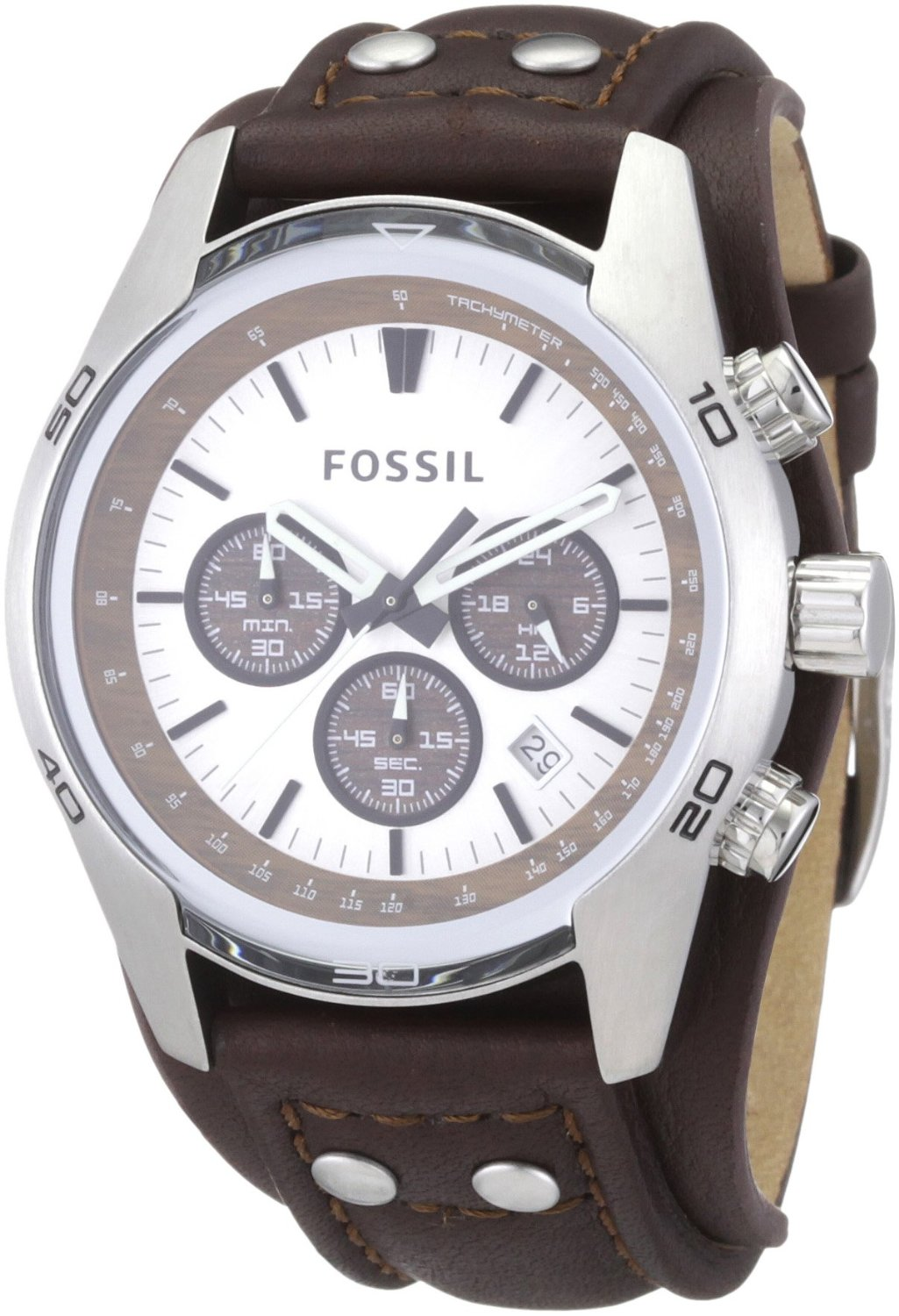 Fossil watches for men: Fossil men39;s Cuff Leather Watch