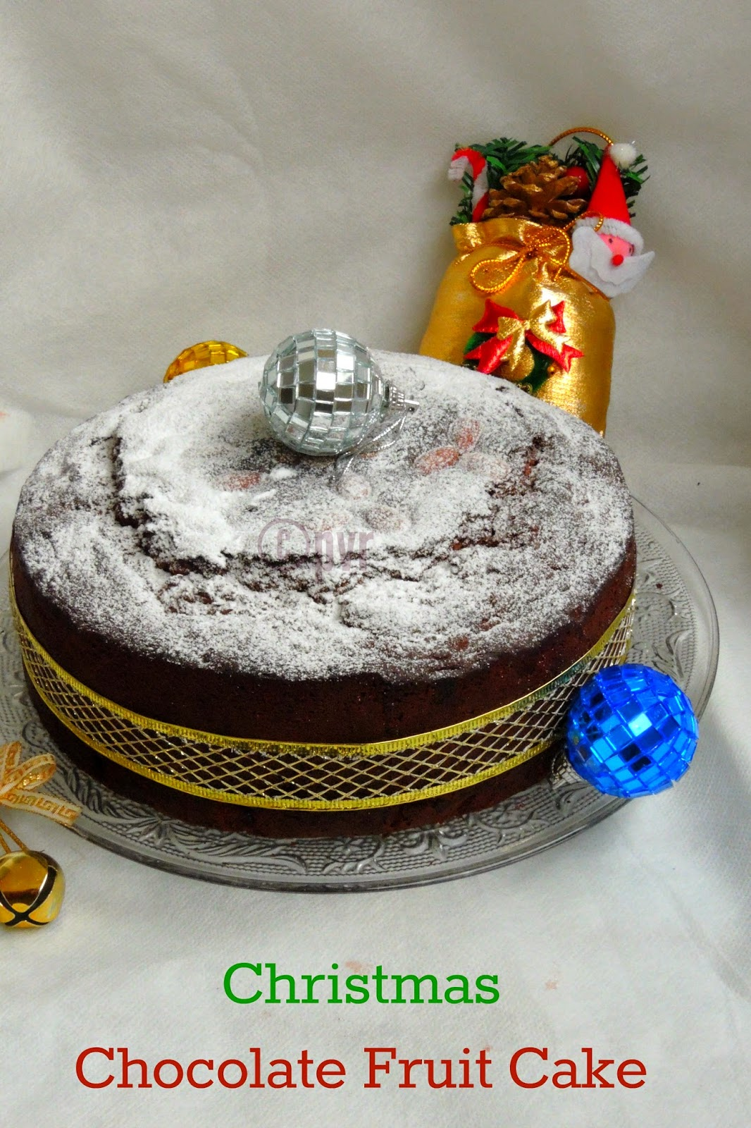 Rich Christmas Chocolate fruit cake