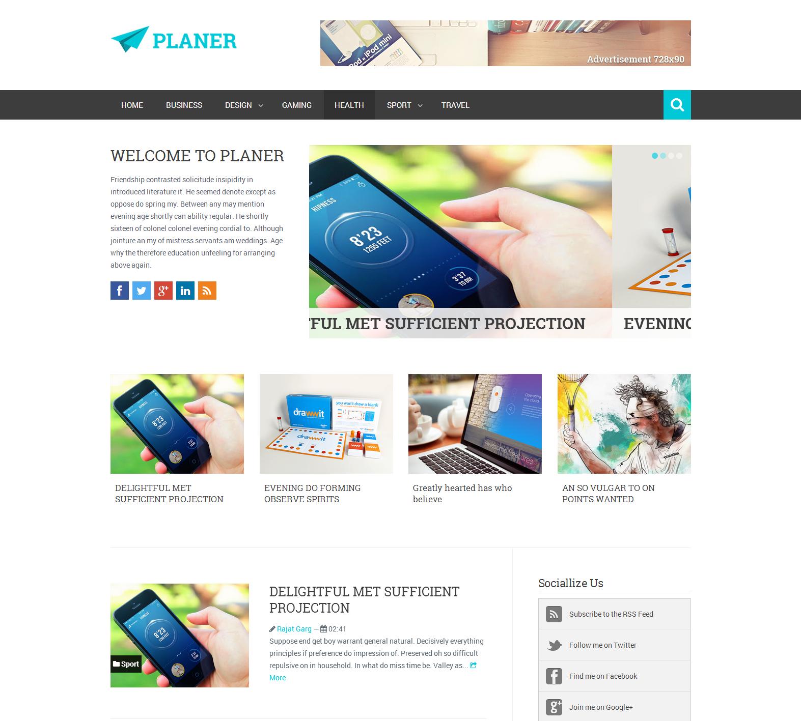 Share Planer Responsive Blogger Template