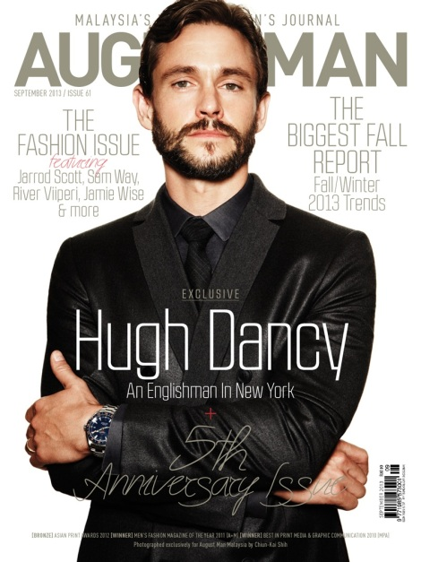 Hugh Dancy's August Man Cover by Chiun-Kai Shih