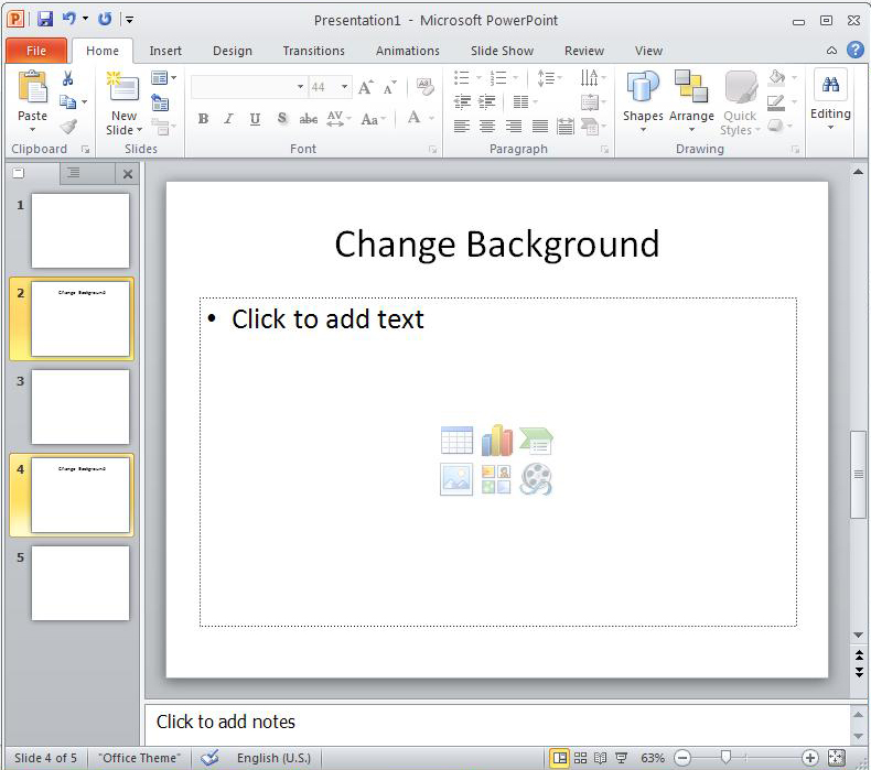 how to use different background in the same powerpoint presentation