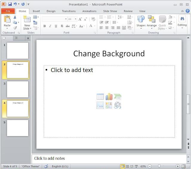 ... Different Background in the Same PowerPoint Presentation - PPT Garden