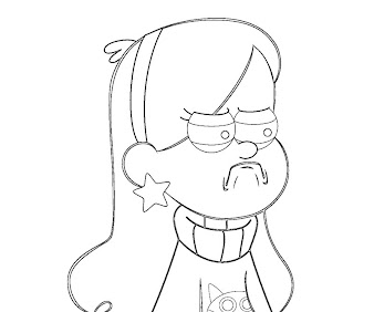 #4 Mabel Pines Coloring Page