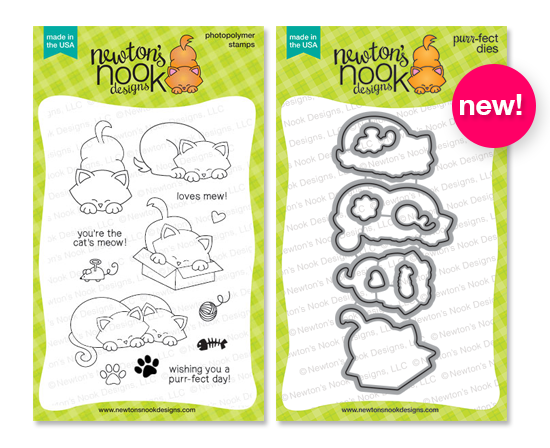 Newton's Antics stamp set and coordinating die set by Newton's Nook Desogns