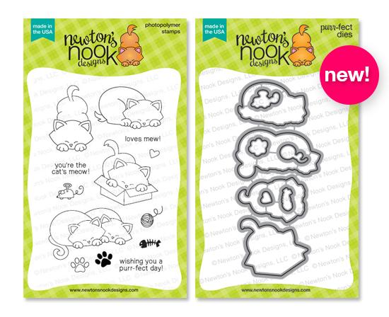 Newton's Antics stamp set and coordinating die set by Newton's Nook Desogns