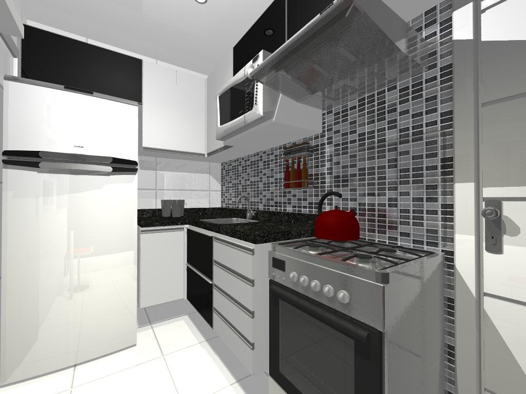 Cozinhas Planejadas em Preto e Branco Bella Kaza Móveis Planejados  #5B2625 1024 768