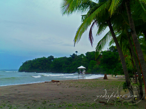Scenic beach area and coastline at Montemar Beach CLub in Bataan