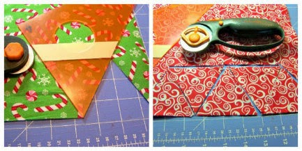 jingle bell christmas tree  cut triangles