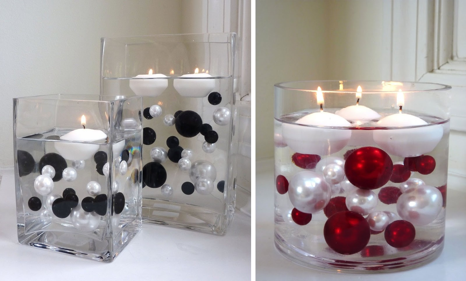Floating Candles In A Vase