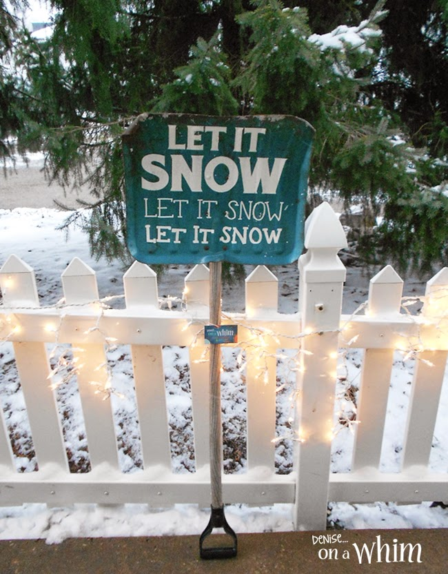 Winter Sign from a Shovel by Denise on a Whim