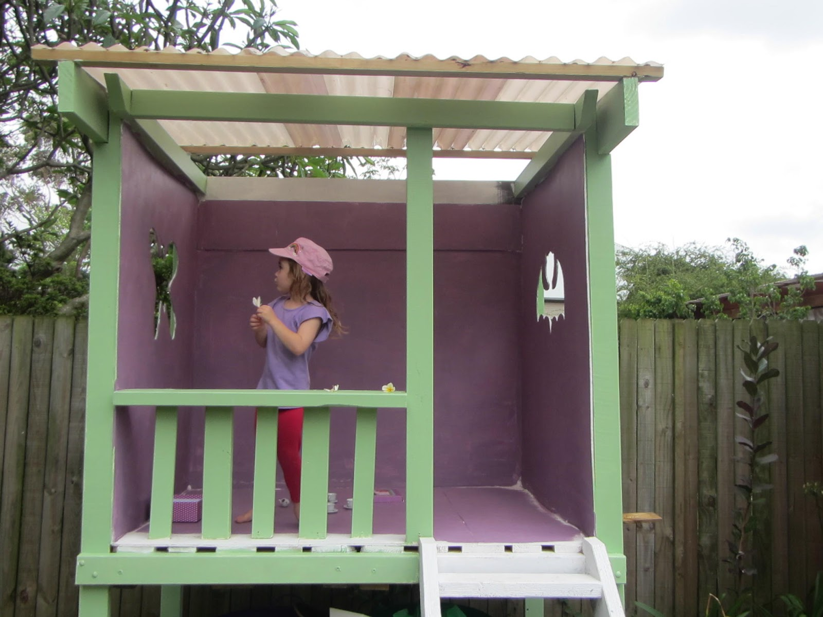 Wooden Painted Cubby House