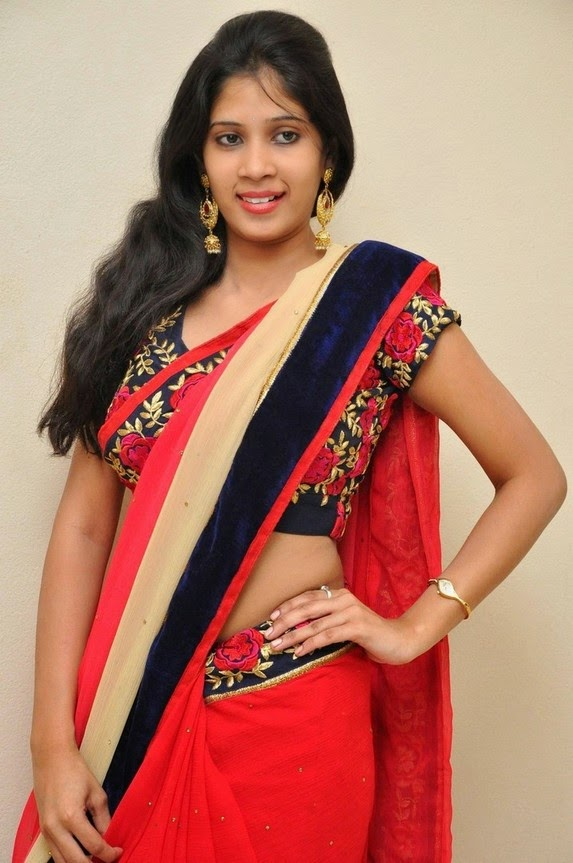 actress om sizzling photos in saree-HQ-Photo-17