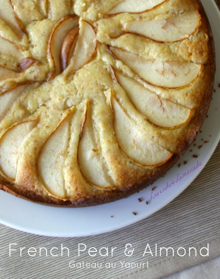 French Almond Yogurt Cake with Pears - Recipe and Tutorial from Lavende & Lemonade