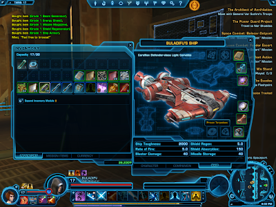 SWTOR - Ship Equip Window