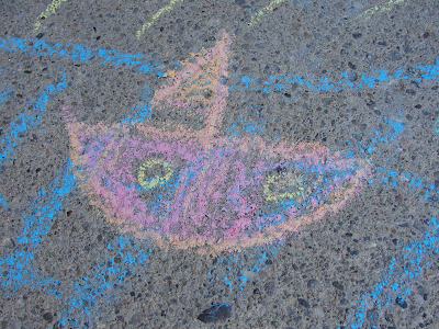 outdoor chalk drawing