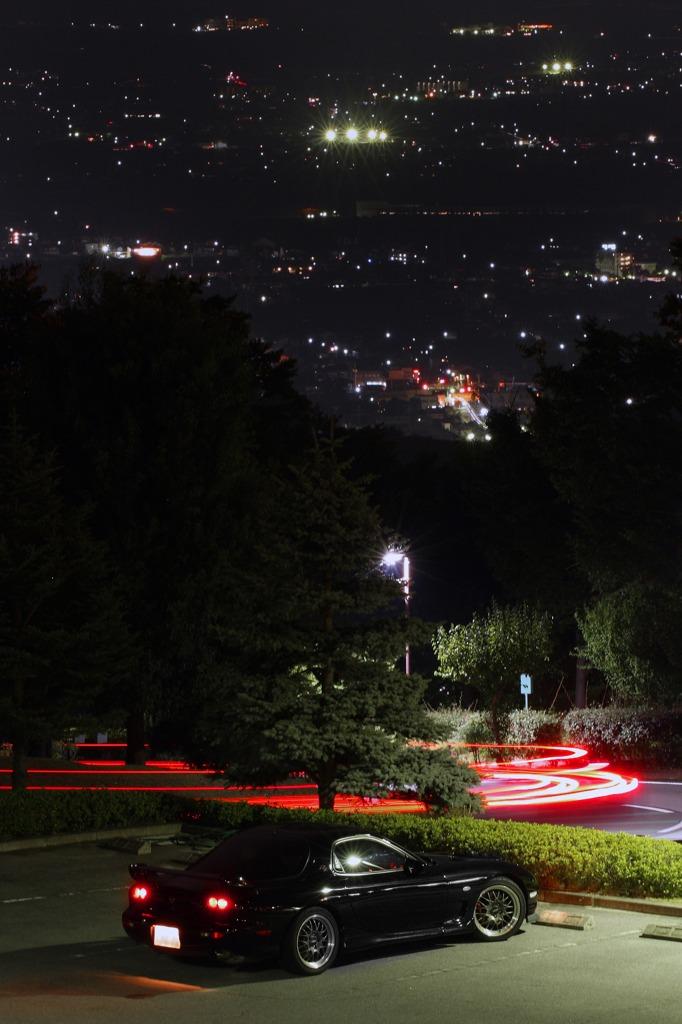 Mazda RX-7 FD, sportowe samochody, silnik wankla, JDM, japońska motoryzacja, galeria, zdjęcia, fotki, nocne