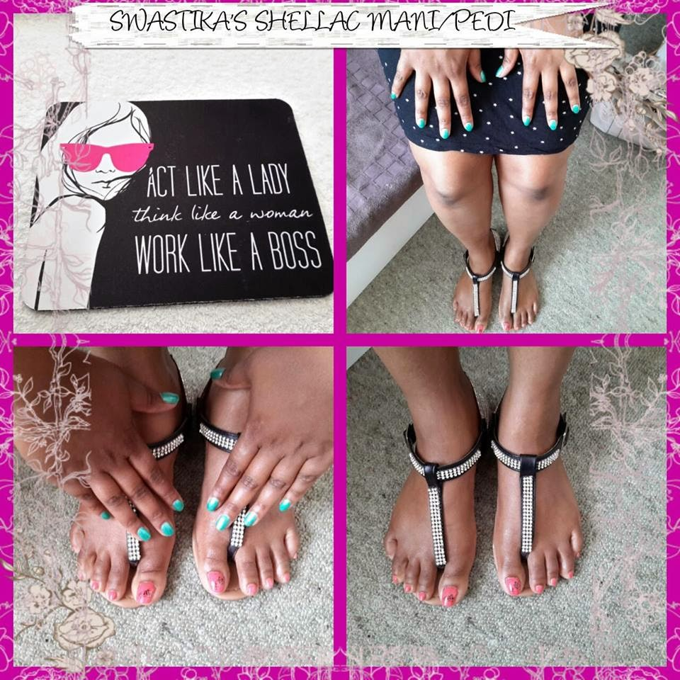Shellac manicure/pedicure extensions, color, design