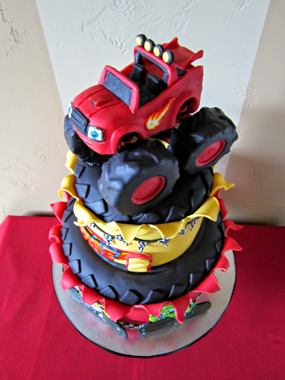 Delectable Cakes Blaze and the Monster Machines birthday cake