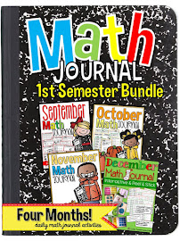 Math Journal Bundle First Semester Semester