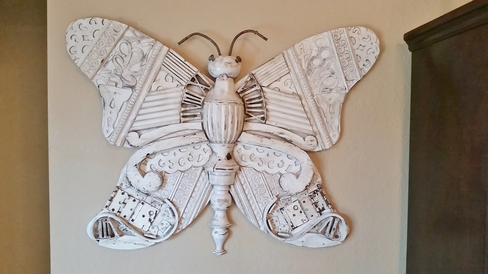 Ideal butterfly recycled art