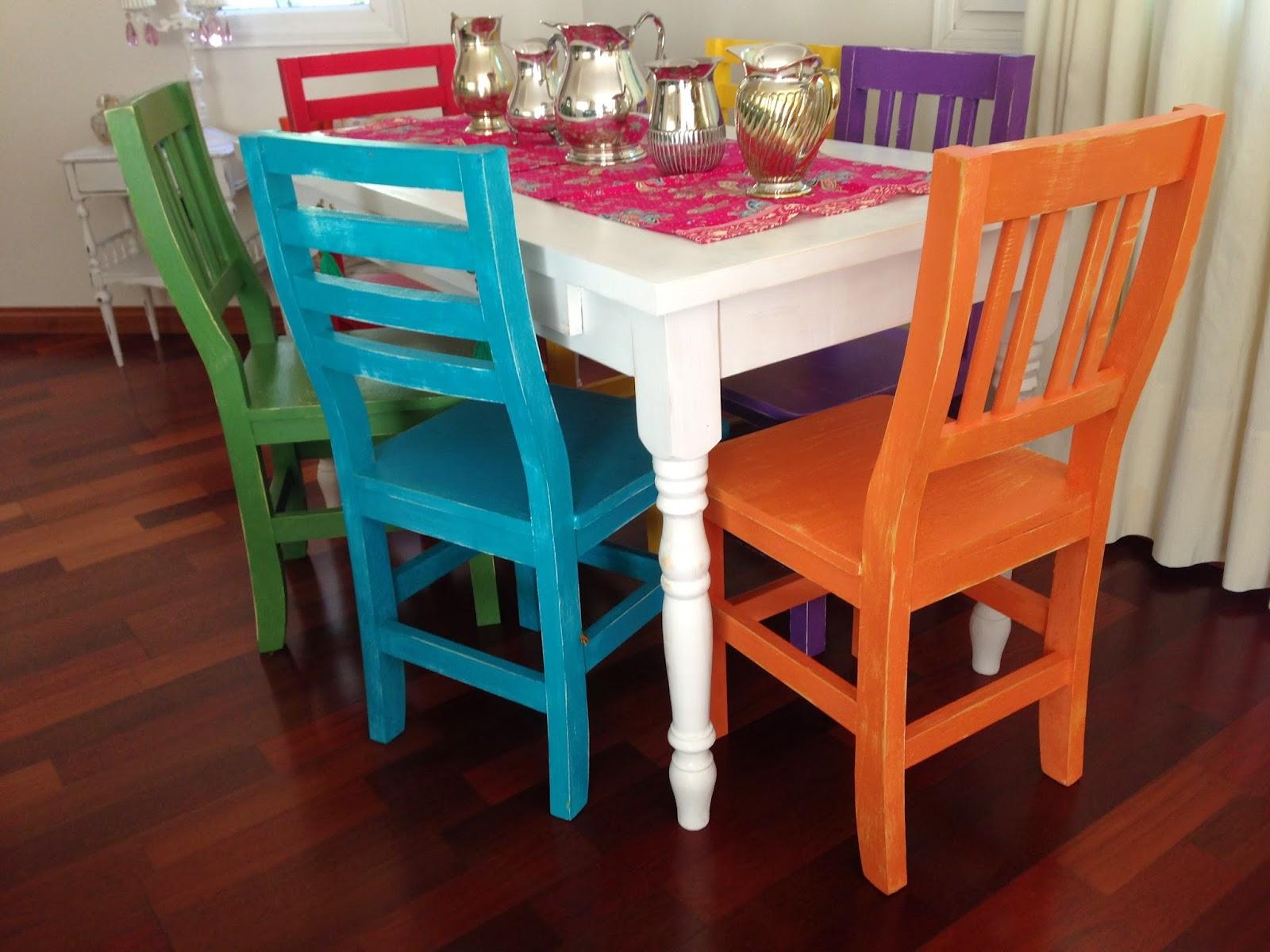 Vintouch muebles reciclados pintados a mano mesa - Colores de muebles ...