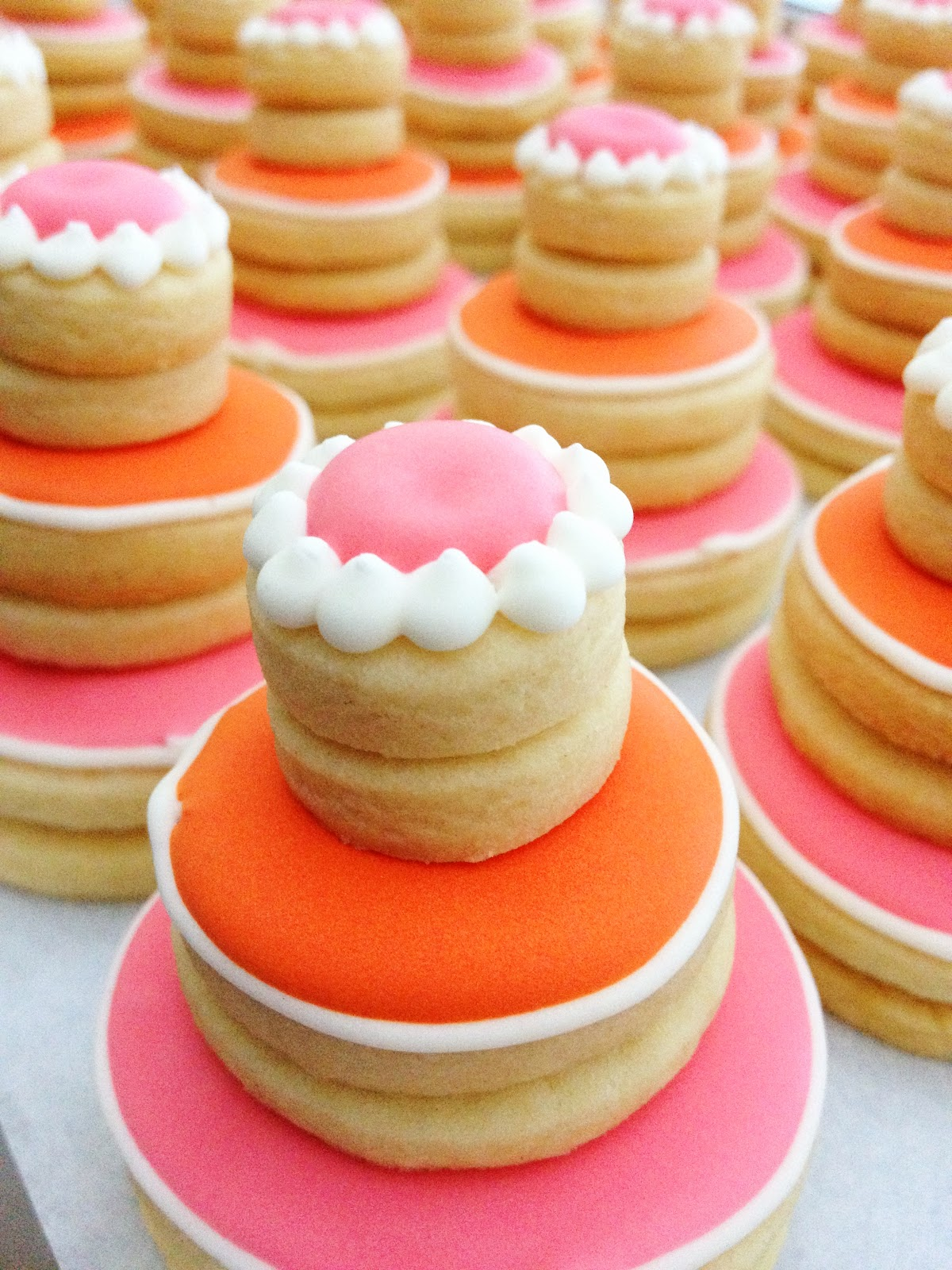 dough and batter bridal shower cookie cake favors
