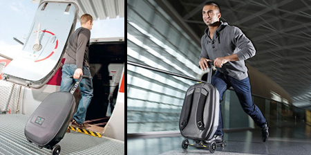 Innovative luggage that transforms into a kick scooter- 7 Images